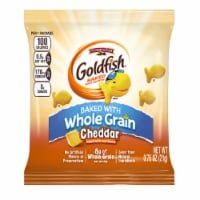 Pepperidge Farm Whole Grain Cheddar Goldfish - 0.75 oz. bag, 300 per case - 300-.75 OUNCE