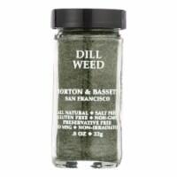 Morton and Bassett Seasoning - Dill Weed - .8 oz - Case of 3 - .8 OZ