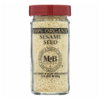 Morton and Bassett 100% Organic Seasoning - Sesame Seed - 2.4 oz - Case of 3 - 2.4 OZ