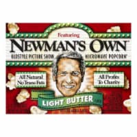 Newmans Own Light Butter Flavor Microwave Popcorn, 3 ea (Pack of 12) - 12