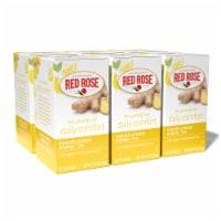 Red Rose Blossoms Ginger Lemon Herbal Tea 18ct - 6 Pack - 6 Pack