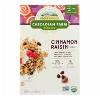 Cascadian Farm Organic Granola Cereal - Cinnamon Raisin - Case of 6 - 15.6 oz