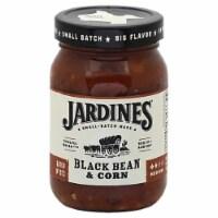 Jardines  Black Bean & Corn Meduim Gluten Free Salsa, 16oz (Pack of 6)