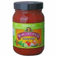 Margaritaville Chunky Salsa Cilantro Lime, 16oz (Pack of 6) - 6