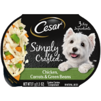 Cesar Simply Crafted Chicken Carrots & Green Beans Wet Dog Food - 10 ct / 1.3 oz