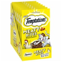 Temptations Chicken Flavor Meaty Bites Soft and Savory Cat Treats Pouch - 7 ct / 1.5 oz