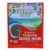 Emerald Cove Organic Pacific Sushi Nori - Toasted - Silver Grade - 10 Sheets - Case of 6 - 10 SHT