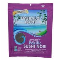 Emerald Cove Organic Pacific Sushi Nori - Toasted - Silver Grade - 50 Sheets - Case of 4 - 50 SHT