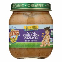 Earth's Best - Stage 3 Apple Cinnamon Oatmeal - Case of 10-4 OZ
