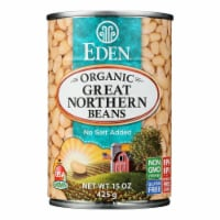 Eden Foods Great Northern Beans Organic - Case of 12 - 15 oz. - 15 OZ