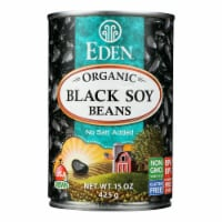 Eden Foods Organic Black Soy Beans - Case of 12 - 15 oz. - 15 OZ