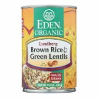 Eden Foods Brown Rice & Green Lentils - Case of 12 - 15 OZ