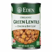Eden Foods Organic Lentils with Onion and Bay Leaf - Case of 12 - 15 oz. - 15 OZ