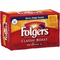 Folgers Classic Roast Ground Coffee - 11.3 oz. vacuum bag, 12 bags per case