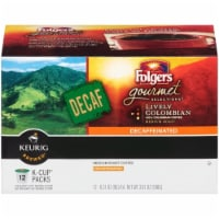 Folgers 100% Colombian Decaffenated Coffee K-Cup Pods Case