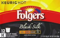 Folgers Black Silk Dark Roast Coffee K-Cup Pods