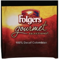 Folgers 100 Percent Colombian Decaffeinated Coffee Pods, 18 Pods per pack -- 6 packs per case