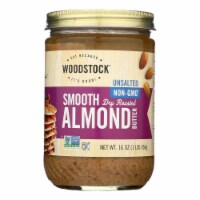 Woodstock Unsalted Non-GMO Smooth Dry Roasted Almond Butter - 1 Each 1 - 16 OZ - 16 OZ