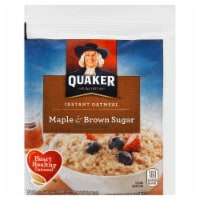 Quaker Instant Oatmeal, Maple and Brown Sugar, 1.5 Ounce -- 48 per case. - 48-1.5 OUNCE