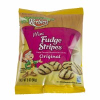 Kelloggs Keebler Fudge Shoppe Mini Fudge Stripes Cookies, 2 Ounce -- 96 per case. - 12-8-2 OUNCE