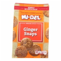 Midel Cookies - Ginger Snaps - Case of 8 - 10 oz - 10 OZ