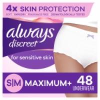 Always Discreet Small/Medium Maximum+ Women's Incontinence Underwear for Sensitive Skin