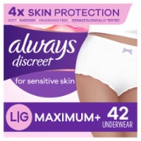 Always Discreet Large Maximum+ Women's Incontinence Underwear for Sensitive Skin