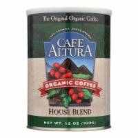 Cafe Altura - Organic Ground Coffee - House Blend - Case of 6 - 12 oz.