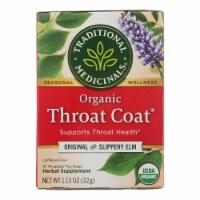 Traditional Medicinals Organic Throat Coat Herbal Tea - Caffeine Free - 16 Bags - Case of 1 - 16 BAG each