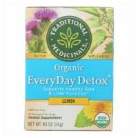 Traditional Medicinals Lemon EveryDay Detox Herbal Tea - 16 Tea Bags - Case of 6