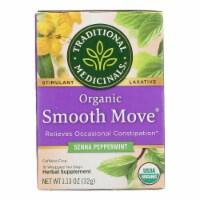 Traditional Medicinals Organic Smooth Tea - Senna Peppermint - 16 Bags - Case of 1 - 16 BAG each
