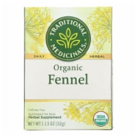 Traditional Medicinals Organic Herbal Tea - Fennel - Case of 6 - 16 Bags - Case of 6 - 16 BAG each