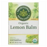 Traditional Medicinals Organic Herbal Tea - Lemon Balm Lemon Bal Og2 - Case of 6 - 16 Bags - Case of 6 - 16 BAG each
