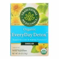 Traditional Medicinals Organic Dandelion EveryDay Detox Tea Bags - 16 ct