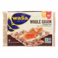 Wasa Crispbread Whole Grain - Flour and Water - Case of 12 - 9.2 oz. - 9.2 OZ