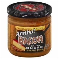 Arriba Medium Bacon Fire Roasted Salsa Queso, 16 Oz (Pack of 6)
