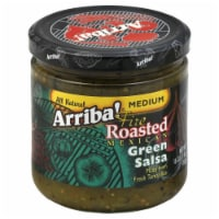Arriba Medium Green Salsa, 16 OZ (Pack of 6) - 6