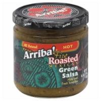 Arriba Salsa Hot Green, 16 OZ (Pack of 6) - 6