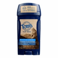 Tom's Of Maine - Deodorant Stick Mens Mountain Spring - Case of 6-2.8 OZ - Case of 6 - 2.8 OZ each