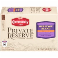 Community Coffee Private Reserve Heritage Blend Single Serve Coffee Cups Case