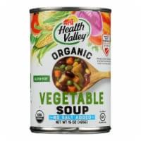 Health Valley Organic Soup - Vegetable No Salt Added - Case of 6 - 15 oz. - Case of 6 - 15 OZ each