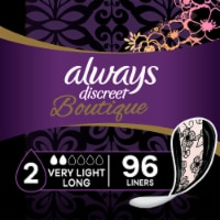 Always Discreet Boutique Very Light Absorbency Long Incontinence Liners