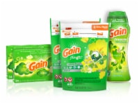 Gain Flings Laundry Detergent Pacs Dryer Sheets & Fireworks Scent Booster Beads Bundle
