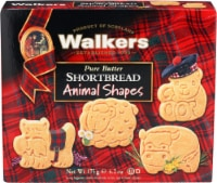 Walkers Pure Butter Shortbread Animal Shapes 6.2oz - 12