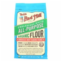 Bob's Red Mill - Organic Unbleached White All-Purpose Flour - 5 lb - Case of 4 - 5 #