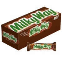 Milky Way Milk Chocolate Singles Size Candy Bars, 1.84 oz (36 Count Box) - 36 Count