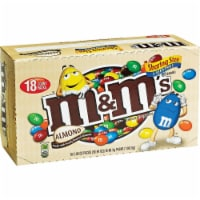 M&M's Chocolate Candies, Almond, Sharing Size, 2.83 oz. Bags (case of 18) - 18 Count