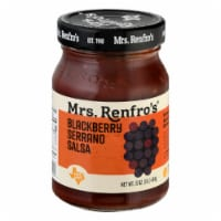 Mrs. Renfro's Blackberry Serrano Salsa Hot Medium 16oz (Pack of 6)