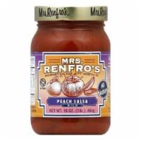 Mrs. Renfro's Salsa Peach Gourmet, 16 OZ (Pack of 6)
