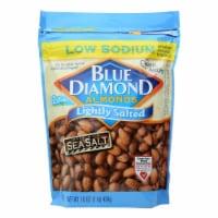 Blue Diamond Lightly Salted Low Sodium Almonds  - Case of 6 - 16 OZ